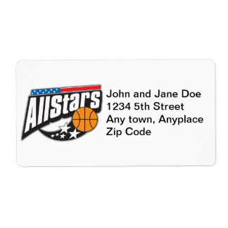 Basketball All Stars Shipping Labels