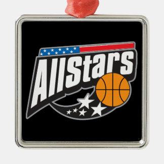 Basketball All Stars Metal Ornament