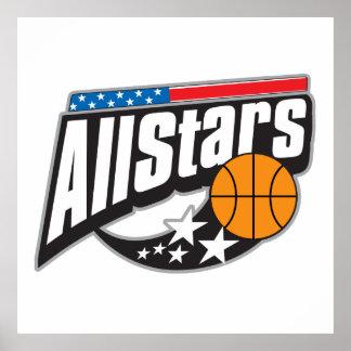 Basketball All Stars Poster