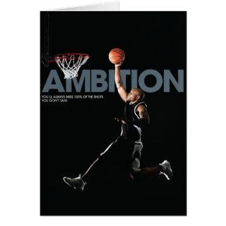 Basketball Ambition Greeting Card