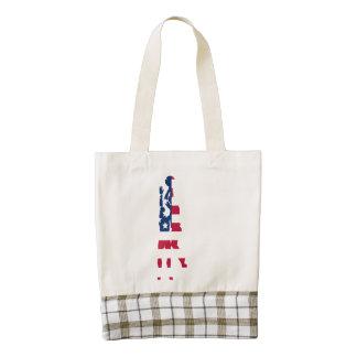 Basketball American Flag Zazzle HEART Tote Bag