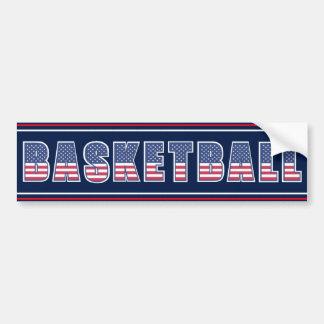 Basketball Americana Edition Bumper Sticker