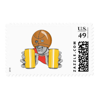 Basketball-and-Beer Postage Stamp