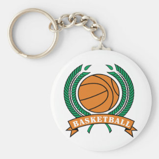 Basketball-and-Boarder Basic Round Button Keychain