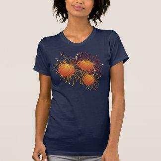 Basketball and Fireworks Shirt