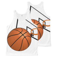 Basketball and Hoop All-Over Print Tank Top