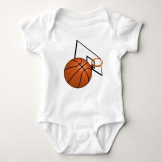 Basketball and Hoop Baby Bodysuit