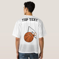 Basketball and Hoop Men's Football Jersey
