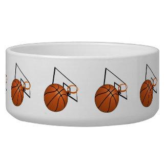 Basketball and Hoop Pet Food Bowl