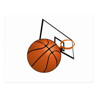 Basketball and Hoop Postcard