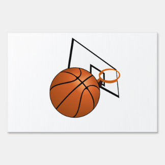 Basketball and Hoop Sign