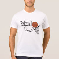 Basketball and Hoop T-Shirt