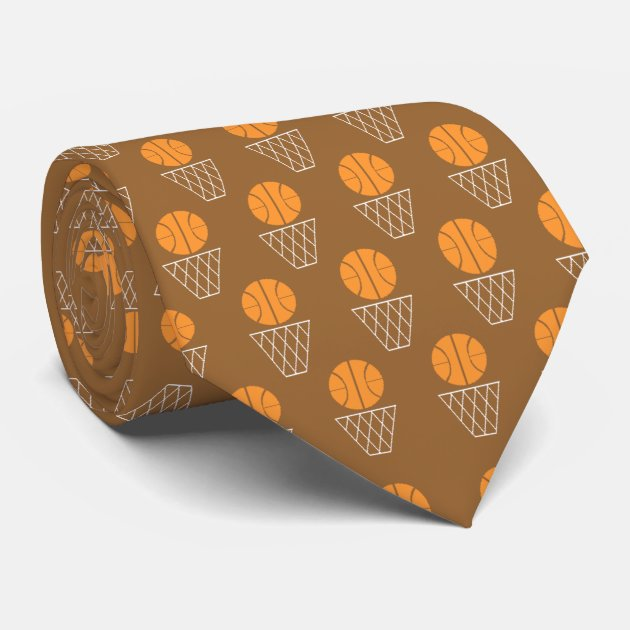 basketball and hoop tie zazzle