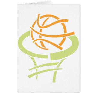 Basketball And Net Note Cards