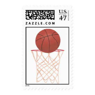 Basketball and net sports postage stamps