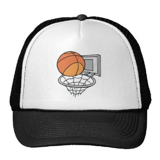 basketball and net vector graphic trucker hat