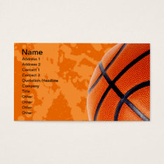 Basketball And Paint Splatter Business Card at Zazzle