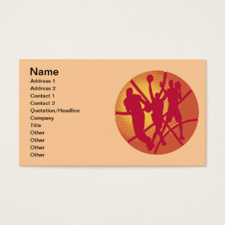 Basketball and Players Business Card