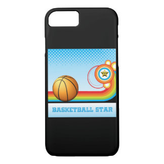 Basketball and Rainbow Stripe BASKETBALL Star iPhone 8/7 Case