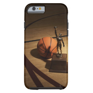 Basketball and trophy on basketball court, tough iPhone 6 case