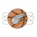 Basketball and Whistle Embroidered Hooded Sweatshirt
