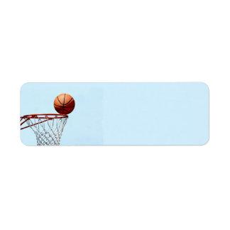 Basketball anticipation return address label