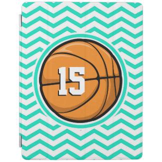 Basketball; Aqua Green Chevron iPad Cover