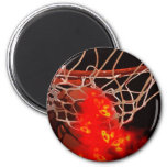 Basketball Art 2 Inch Round Magnet