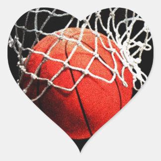 Basketball Art Heart Sticker