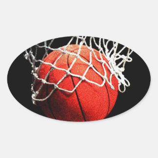 Basketball Art Oval Sticker
