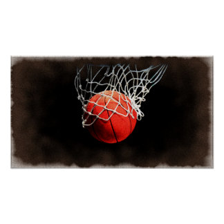 Basketball Art Poster