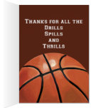 Basketball Art Thank You Coach Greeting Card