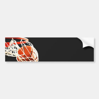 Basketball Artwork Bumper Sticker