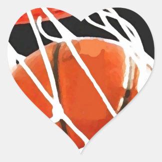 Basketball Artwork Heart Sticker