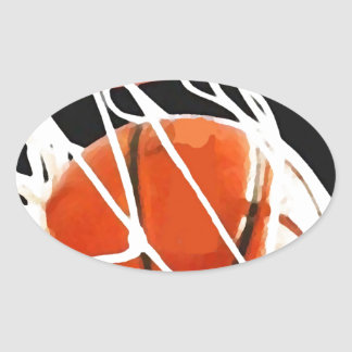 Basketball Artwork Oval Sticker