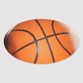 Basketball Artwork Oval Sticker
