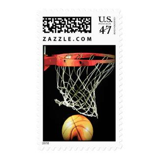 Basketball Artwork Postage Stamp