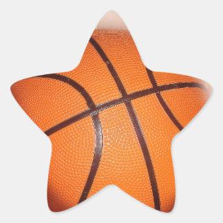 Basketball Artwork Star Sticker