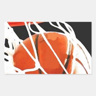 Basketball Artwork Rectangle Sticker
