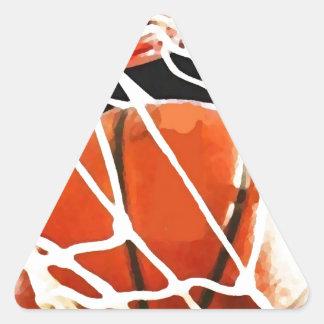 Basketball Artwork Triangle Sticker