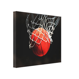 Basketball Artwork Wrapped Canvas