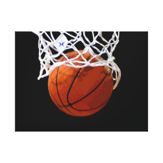 Basketball Artwork Wrapped Canvas Canvas Print