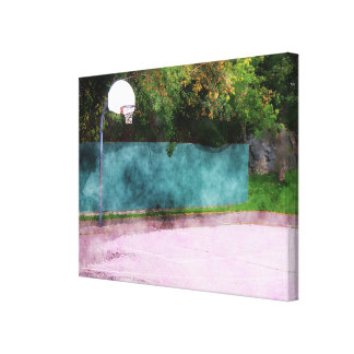Basketball At The Park Canvas Print