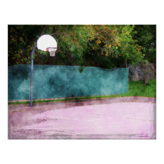 Basketball At The Park Poster