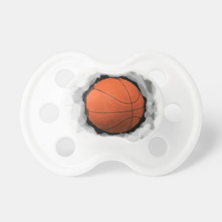 basketball baby gift pacifier