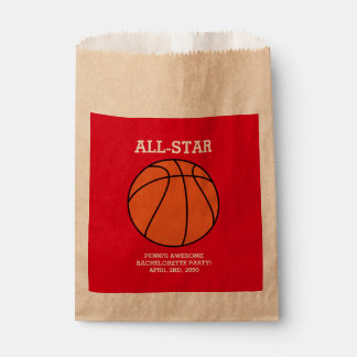 Basketball Bachelorette Party Favor Bags