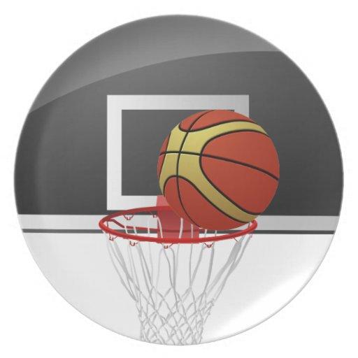 Basketball Backboard Ball Kitchen Plate