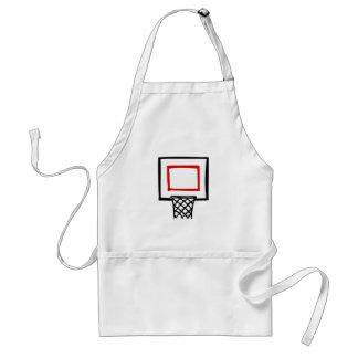 Basketball Backboard & Hoop Adult Apron