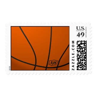 Basketball background postage stamps