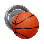 Basketball Ball 2 Inch Round Button